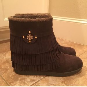 Tory Burch Collins fringe boots 💝